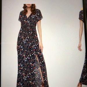 Sanctuary Coco Floral A-Line Maxi Dress Size XL